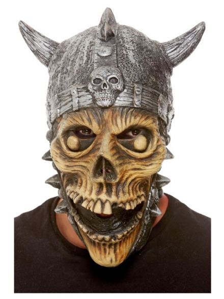 Viking Skeleton Full Over-head Latex Mask